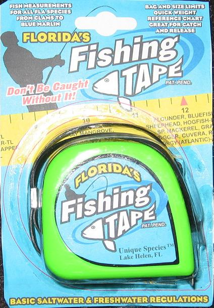 Florida fishing tape fish measuring tape by rick hardy for Fish measuring tape